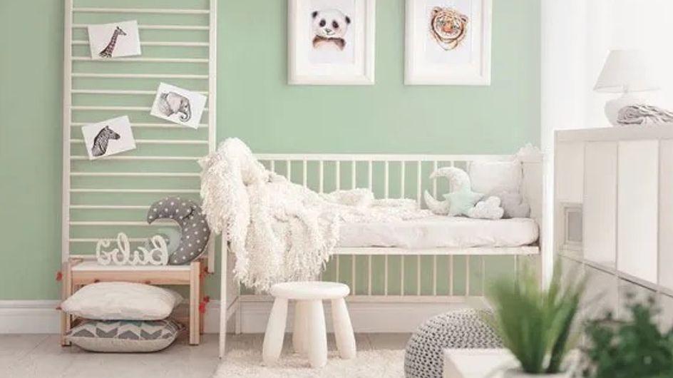 Chambre de bébé : optez pour le vert d'eau, une couleur parfaite pour un tout-petit