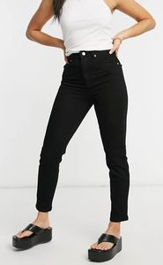 Farleigh - Mom jeans slim a vita alta nero