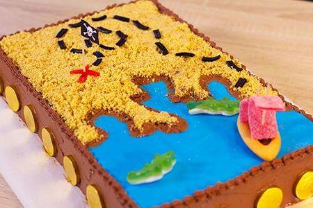 Gâteau carte au trésor