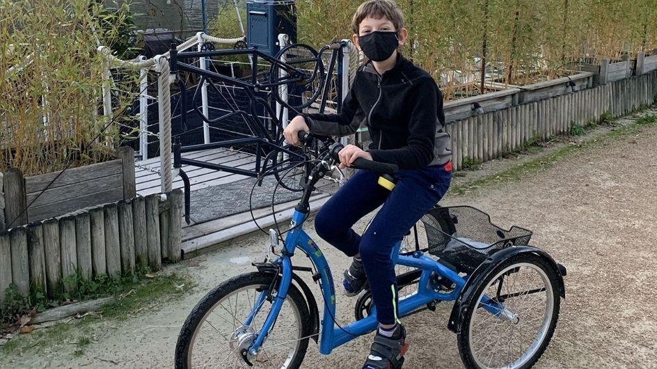 Elle lance un appel après le vol du vélo médical de son fils