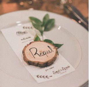 segnaposto matrimonio fai da te: legno