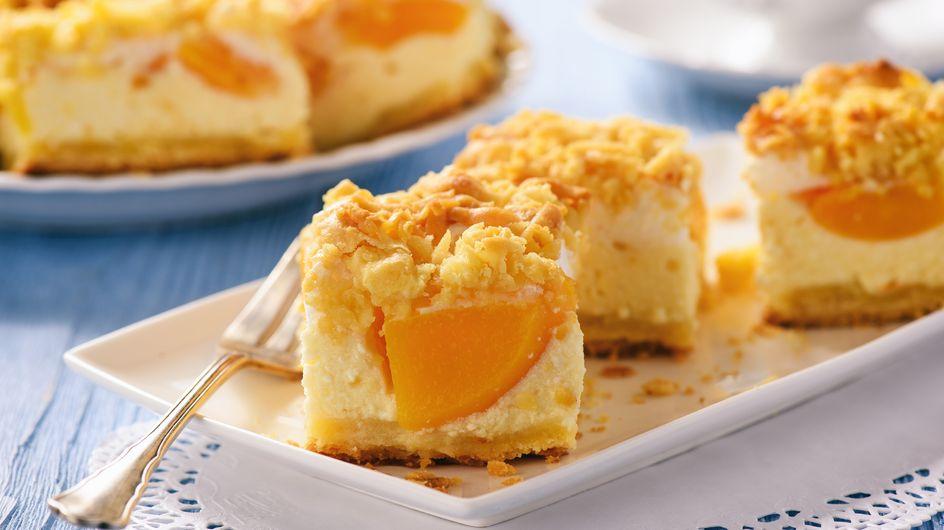 Pfirsichschnitten: Einfaches Rezept vom Blech