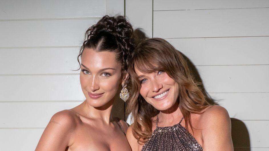 Carla Bruni et Bella Hadid : les jumelles s'amusent de leur ressemblance à Cannes
