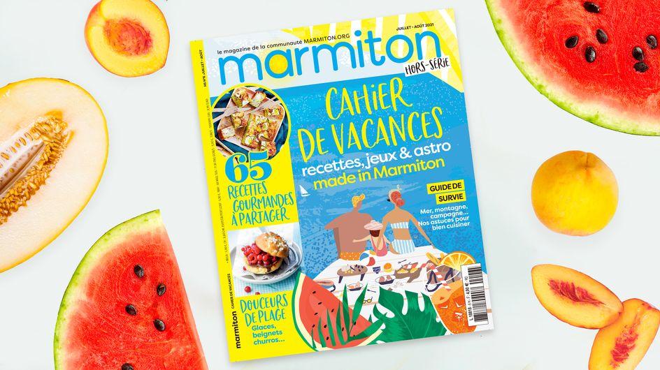 Marmiton sort son Cahier de vacances pour un été 2021 gourmand et amusant
