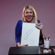 Frauen werden gebeten, ihren idealen Penis zu malen. Die Ergebnisse sind urkomisch!