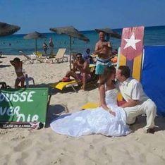 Ils se marient sur la plage de Sousse pour prouver que le terrorisme ne l'emportera pas sur l'amour (Photos)