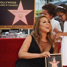 Mariah Carey, ses jumeaux l'éclipsent sur le Walk of Fame (Photos)