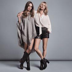 Kate Moss et Cara Delevingne, un duo rétro pour la collection automne-hiver de Mango