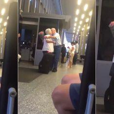 Video/ True love: ecco perché tutte si sono innamorate di questo anziano signore che aspetta all'aeroporto