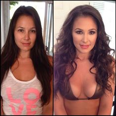 Les incroyables avant/après maquillage des pin-ups Playboy (Photos)