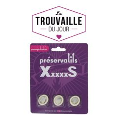 Des préservatifs XxxxxS pour les (tout) petits zizis