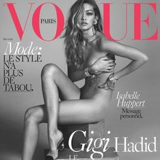 Gigi Hadid seulement habillée de Chanel N°5 pour Vogue France (Photo)