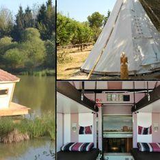 Train, bateau, grotte, cabane… Les endroits les plus dingues pour des vacances en famille (photos)