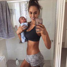 Könnt ihr erkennen, warum das Baby-Selfie dieses Fitnessmodels im Netz für Aufregung sorgt?