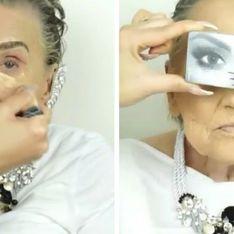 Esta abuela de 80 años pidió a su nieta que la maquillase. El resultado te dejará con la boca abierta