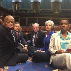 Du jamais vu, les élus démocrates occupent le Congrès pour le contrôle des armes