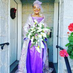 Pour son mariage, cette mamie de 86 ans a choisi une robe très originale (Photos)