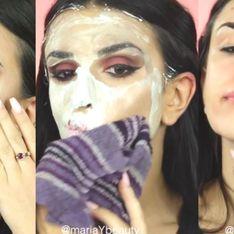 Cette jeune femme se démaquille avec de la mousse à raser, et ce n'est pas une blague (vidéo)
