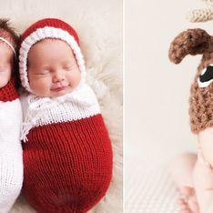 Su primera Navidad: 23 fotos de adorables recién nacidos en sus primeras fiestas