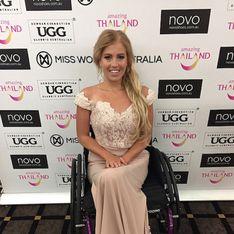 Justine Clarke est la première femme en fauteuil roulant à participer au concours de Miss Monde (Photos)