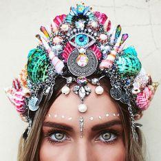 La couronne de sirène, l'accessoire star des festivals et de l'été 2017 (Photos)