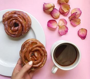 Rose-shaped Doughnuts Are The Summer's Sweetest Treat