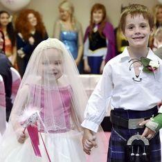 Atteinte d'un cancer, cette petite fille de 5 ans a eu droit à un mariage de rêve (Photos)