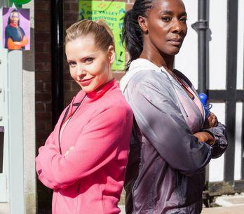 Hollyoaks 04/07 - Cindy And Simone Go Head-To-Head At The Charity Walkathon