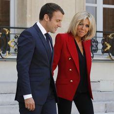 Brigitte Macron, une veste militaire rouge vif qui ne passe pas inaperçue ! (Photos)