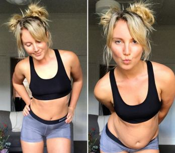 Blogger Tells People It's Cool To Be Real In Honest Instagram Pic Of Her Stomach Fat