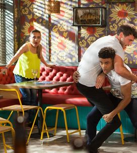Hollyoaks 26/09 - Prince Barges Into The Dog And Attacks Damon