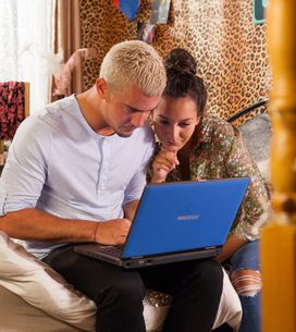 Hollyoaks 29/09 - Cleo & Joel Discuss Tanzania