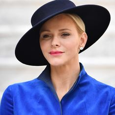 Charlène de Monaco, glamour en total look bleu avec ses enfants Jacques et Gabriella (Photos)