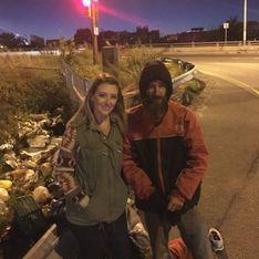 Ein Obdachloser gab ihr sein letztes Geld - und dafür hilft sie jetzt IHM!