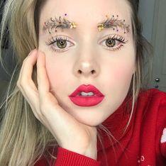 Et si pour les fêtes vous adoptiez les sourcils sapins de Noël ?