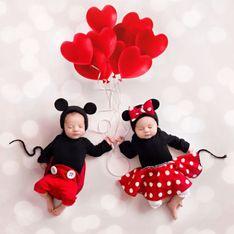Saint Valentin : on craque pour ces photos de bébés habillés en Mickey et Minnie