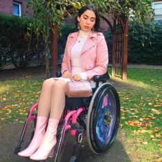 Esta chica crea un mensaje Body Positive en su silla de ruedas