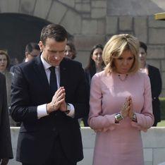 Brigitte Macron, resplendissante dans une sublime robe rose en Inde (Photos)
