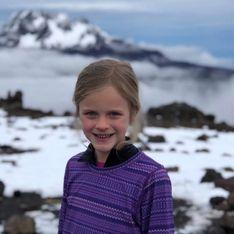 A seulement 7 ans, elle gravit le Kilimandjaro pour son père décédé