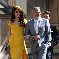 Amal Clooney, sublime dans une robe jaune pour assister au mariage princier