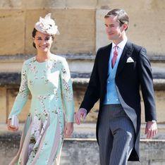 Enceinte, Pippa Middleton est arrivée dans une robe fleurie au château de Windsor