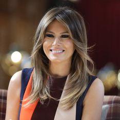 En Angleterre, Melania Trump captive tout le monde dans une robe de bal jaune