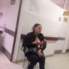 Cette policière allaite un bébé affamé à l'hôpital et c'est vraiment émouvant !