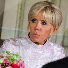 Brigitte Macron ose la robe en satin pour rencontrer le prince héritier du Japon