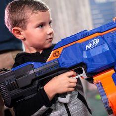 Elle alerte sur le danger des jouets Nerf après que son fils a perdu un oeil à cause d'un projectile