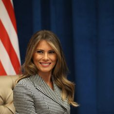 Melania Trump, son legging en cuir nude laisse perplexe (photo)