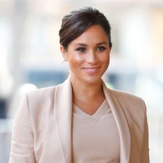 Meghan Markle, sublime future maman dans un total look nude ultra chic