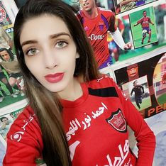 Cette jeune Iranienne se travestie en homme pour assister aux matchs de foot (Photos)