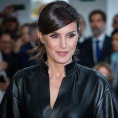 Letizia d'Espagne ose la robe en cuir et c'est canon !
