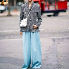 Palazzohosen kombinieren: So werden die weiten Hosen richtig gestylt